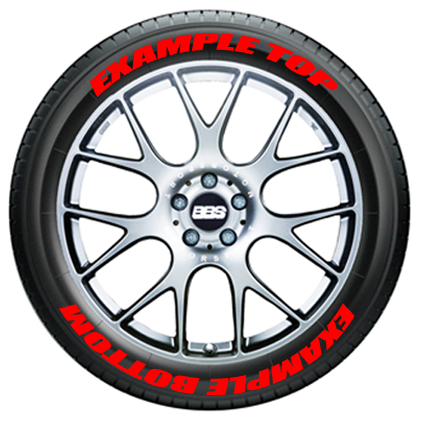Toyo Tires White Letters >> Top and Bottom Text On Tires | TIRE STICKERS .COM