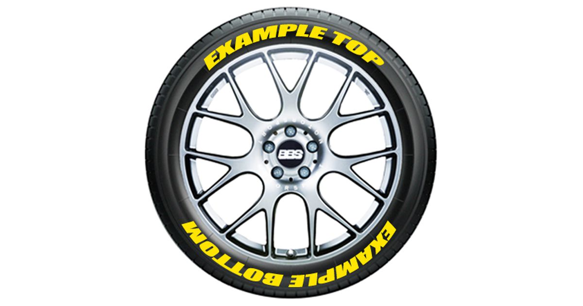 Top And Bottom Text On Tires Tire Stickers Com