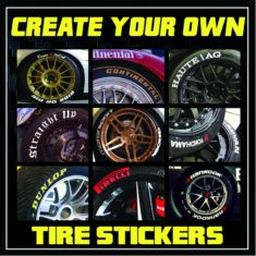 tire stickers create your own