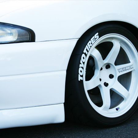 toyo tires tire sticker - white and black