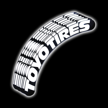 Toyo Tires White Letters >> Toyo Tires Tire Sticker - White and Black