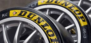 dunlop tire stickers close up