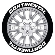 continental tire stickers - 8 decals tyre lettering