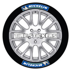 michelin tire stickers blue and white michelin tire lettering design