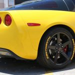 yellow continental tire stickers - corvette c6 - chevy