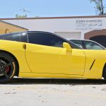 yellow continental tire stickers - corvette c6 - chevy-3