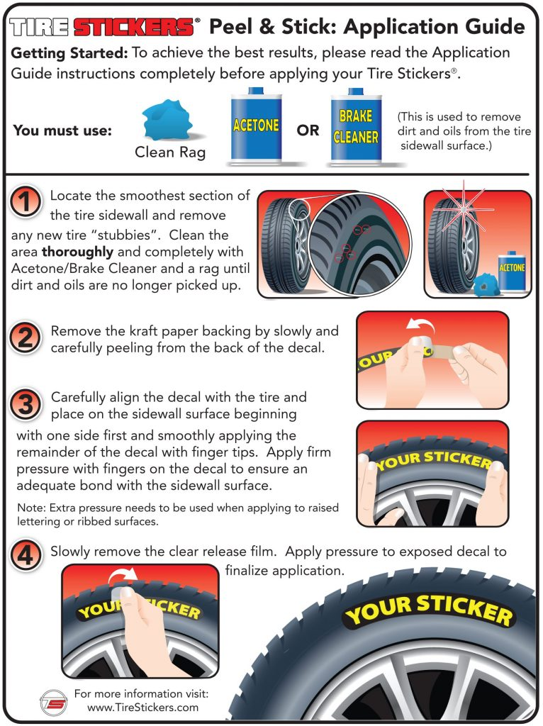 Peel and Stick Tire Stickers Application Guide