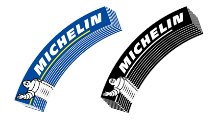 blue and white michelin logo tires