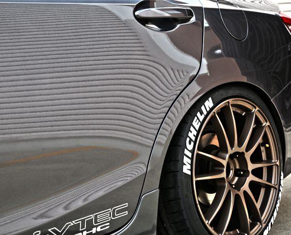 michelin civic - tire stickers