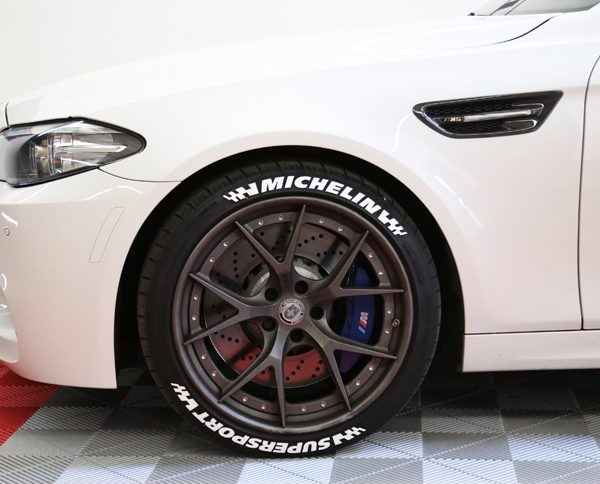 tire stickers michelin logo with flags white sticker