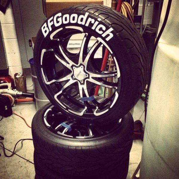 BF GOODRICH tire lettering