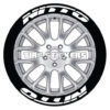 nitto tire stickers - 8 decals