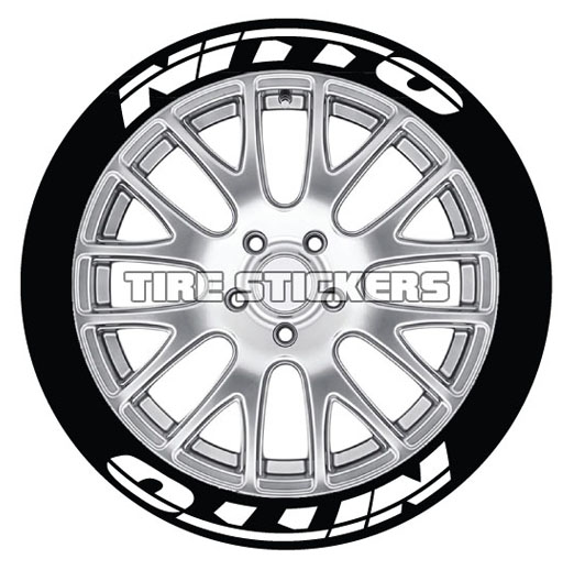 nitto tire lettering tire stickers 2003 Cobra Black nitto tire stickers 8 decals