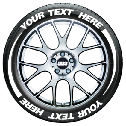 Tire Flares With Custom Text | TIRE STICKERS