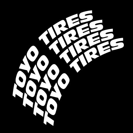 Toyo Tires Rubber Lettering