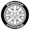 bf goodrich tire stickers - 8 decals letters
