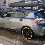 MAZDA 3 tire graphics lettering yellow