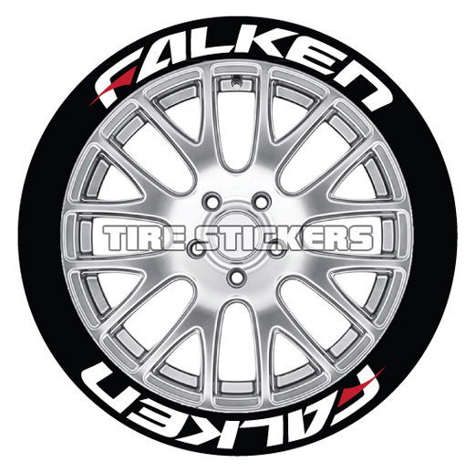 falken red dash tire stickers