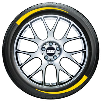 Tire Graphics - yellow 1