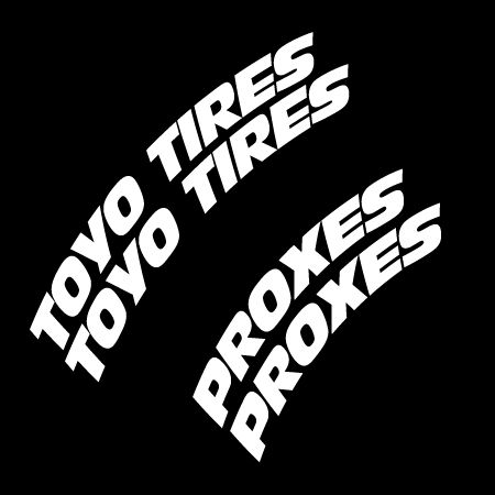 Toyo Tires White Letters >> Toyo Tire Letters