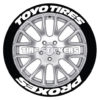 TOYO TIRES PROXES TIRE STICKERS - 4 DECALS EACH