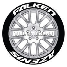 falken azenis tire stickers - 4 decals lettering
