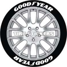 Goodyear tire lettering