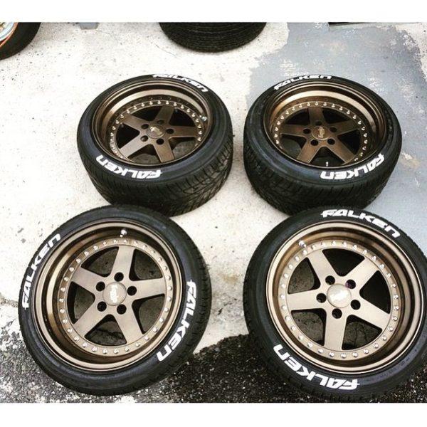 white tire lettering - falken tire