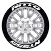 nitto nt555 tire stickers - 4 decals