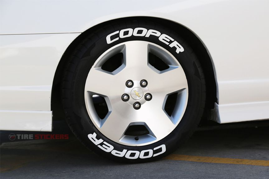 Cooper Tires - White Tire Letters - Official Tire ...