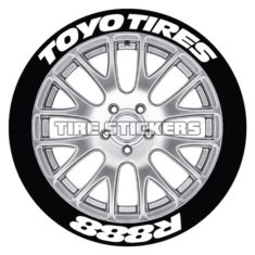 toyo tires r888 tire stickers - 8 decals