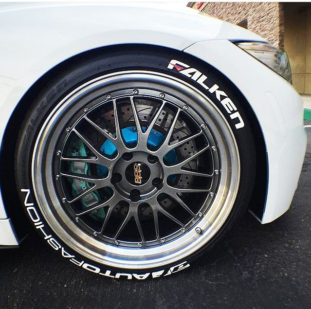 Hankook Tires White Letters >> Falken Tire Lettering With Red Dash | TIRE STICKERS