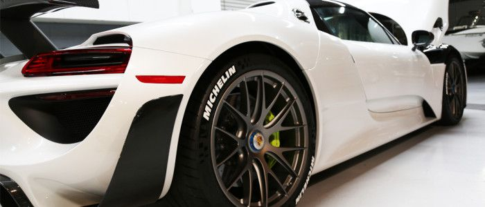 Porsche 918 Spyder Michelin Tire Stickers