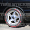 Chevy Impala Red Line Tires - Tire Stickers