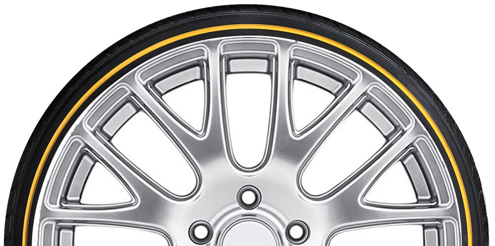 Gold Stripe Tire Sidewall Kit Add Gold Lines To Your Tires