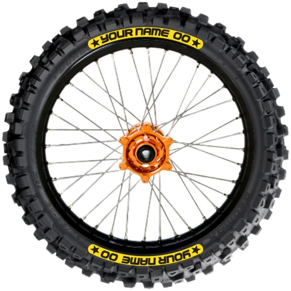 Custom tire decals dirtbikes
