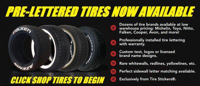 pre lettered tire lettering
