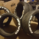 Nitto Invo pre lettered tires - tire stickers