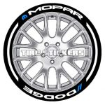 dodge-mopar-tire decal - white stickers-1