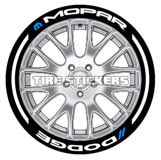 Will These Mopar Or Dodge Tyre Stickers Look Good