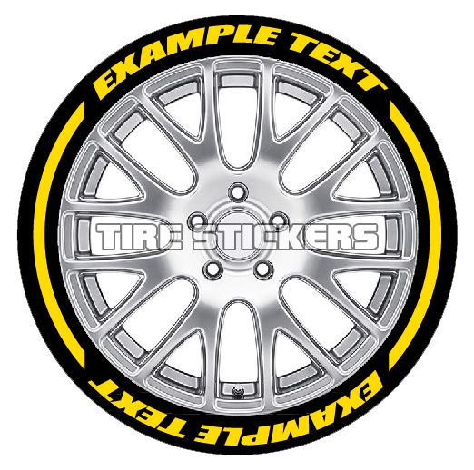 Tire Graphics - Formula 1 Style Tire Lettering | TIRE STICKERS