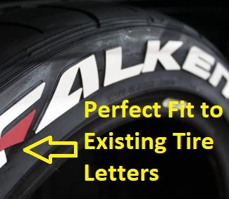 Perfect Tire Letter Match Tire Mold Tire Stickers