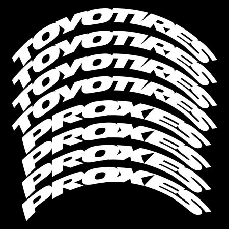 Toyo Tires White Letters >> Toyo Tires Proxes – Stretched Tire Lettering   TIRE STICKERS