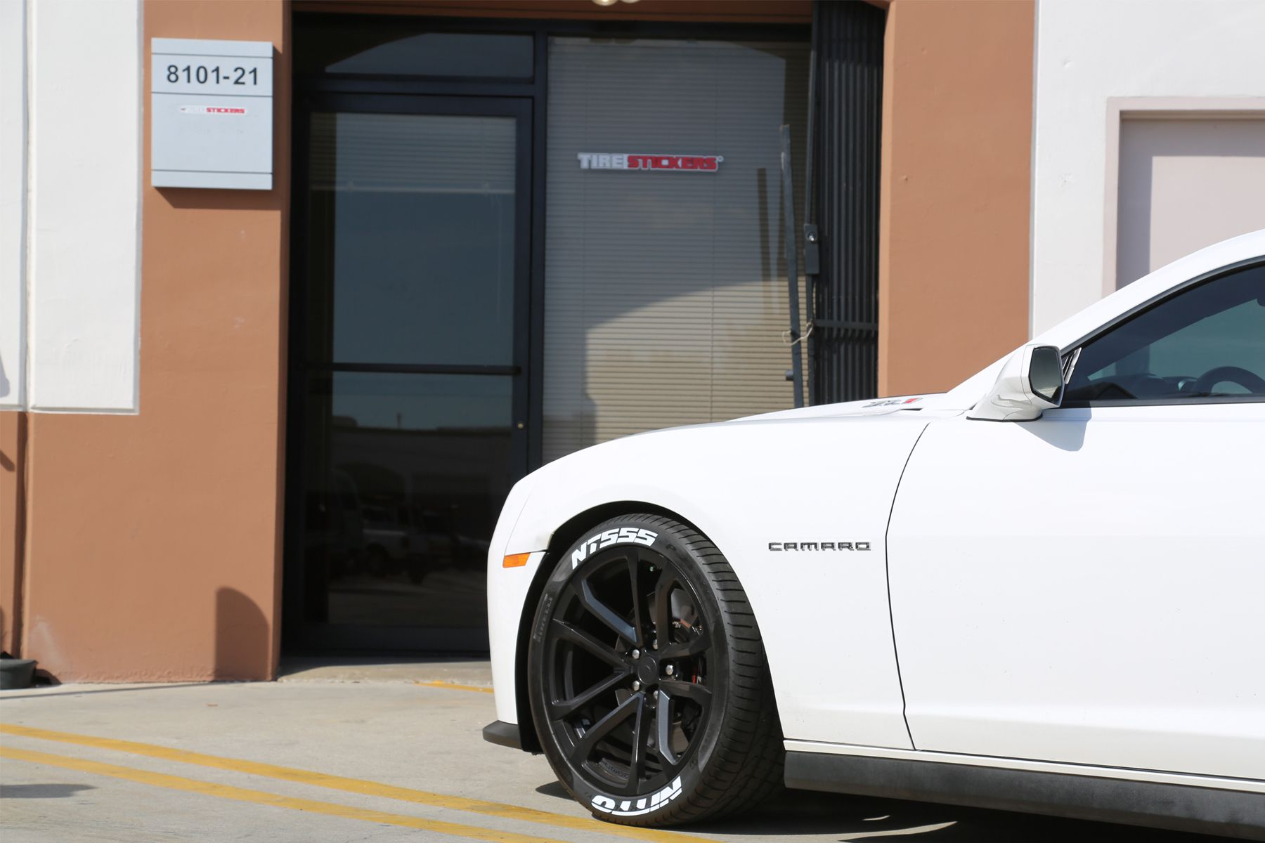 Chevy Camaro ZL1 Tire Stickers White Nitto NT555 tire lettering