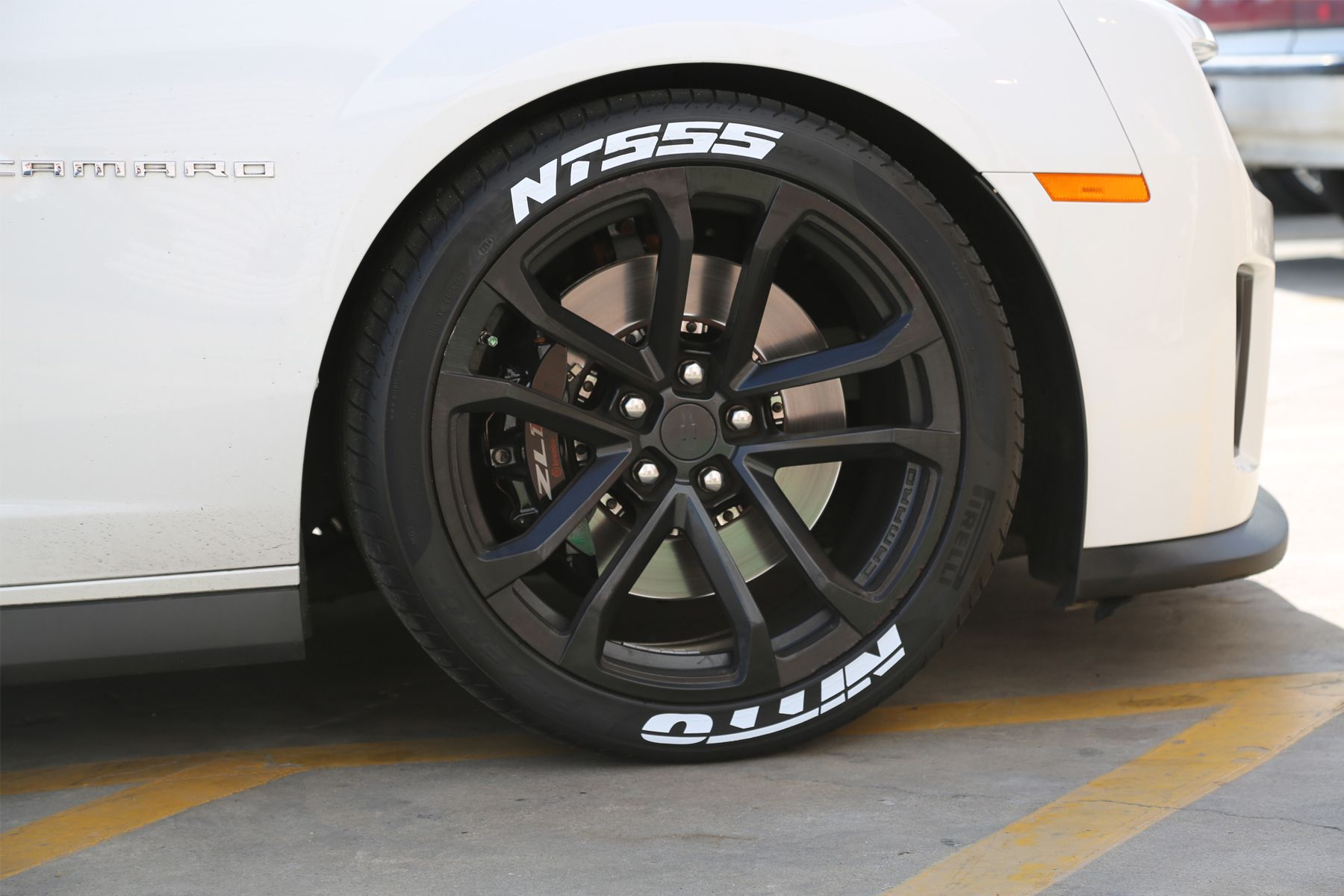 Chevy Camaro Zl1 Tire Stickers White Nitto Nt555 Tire