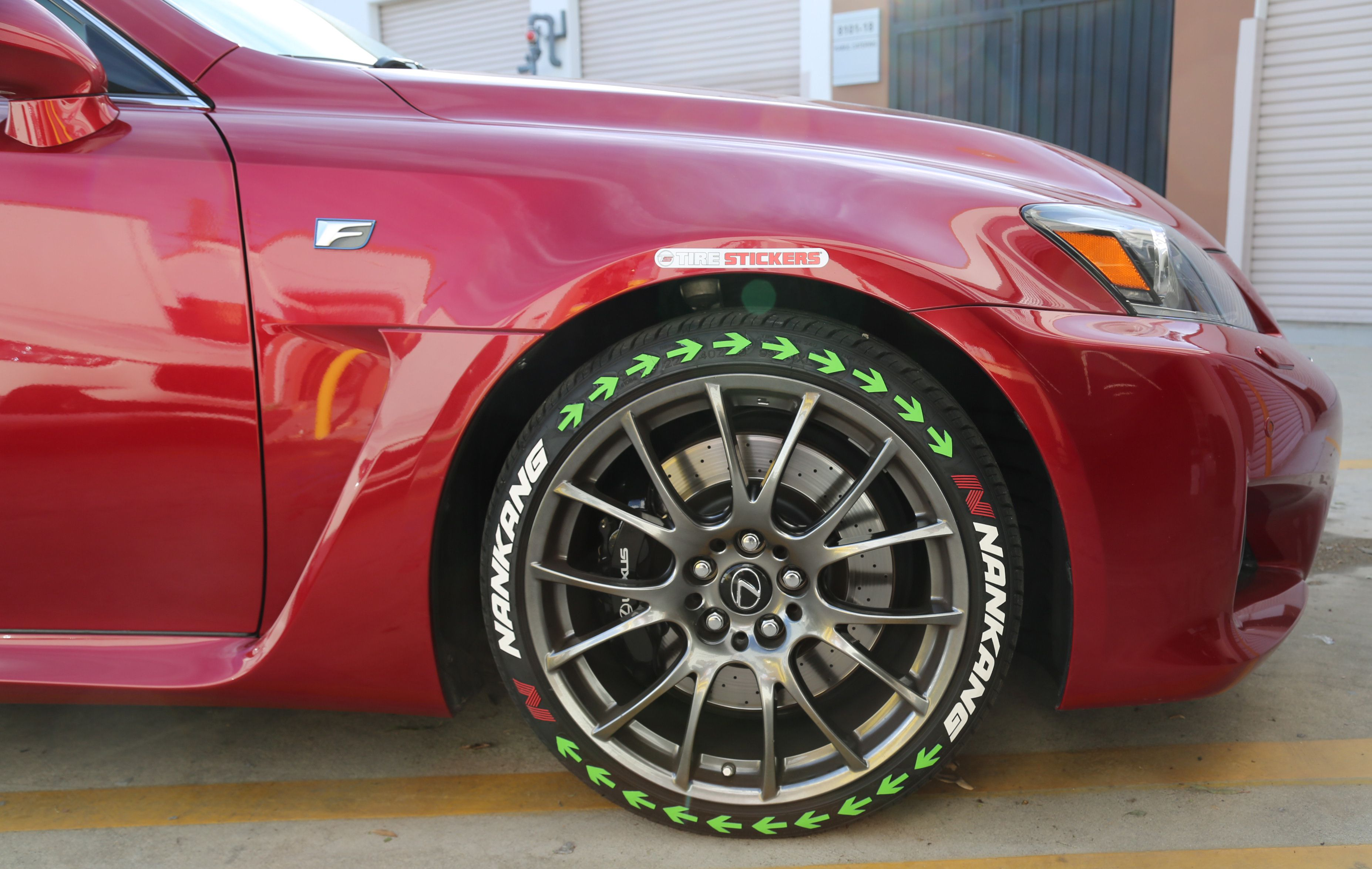 Nankank Tires White Lettering Green Arrows Tire Stickers Com