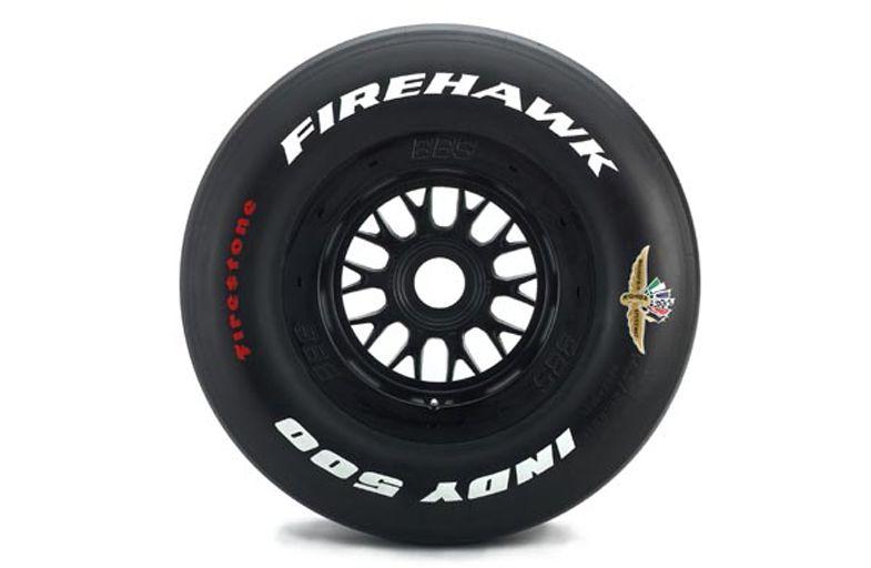Indy 500 fire stone fire hawk tire lettering