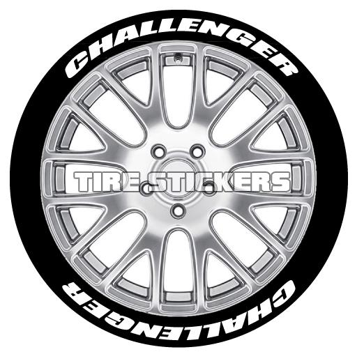 dodge mopar tire lettering tire stickers SRT8 Super Bee challenger tire sticker dodge mopar
