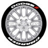 dodge charger tire lettering