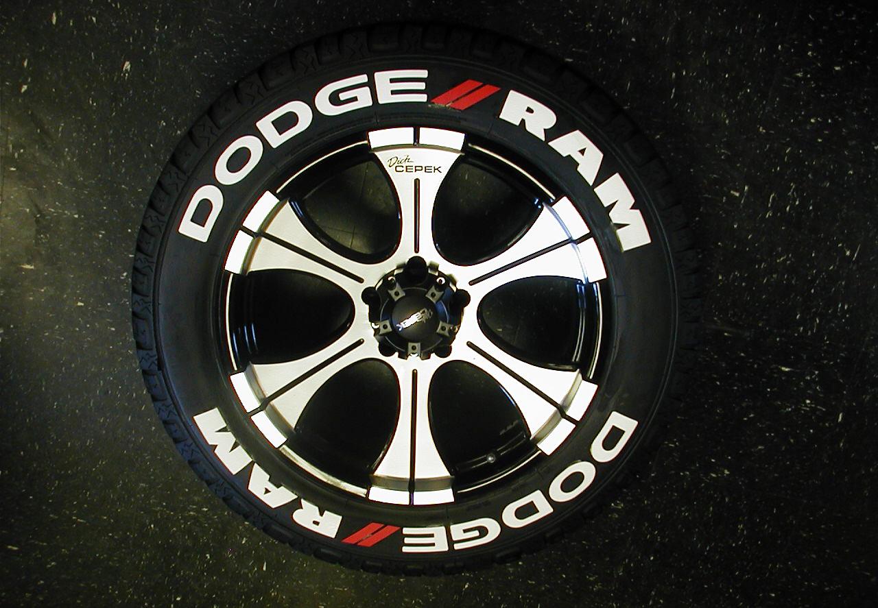 18 Inch Tires >> Dodge – Mopar – SRT | TIRE STICKERS .COM